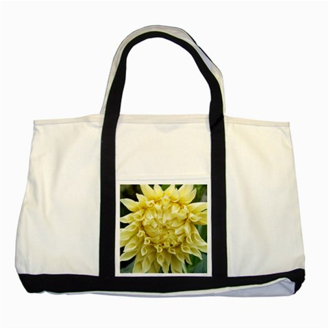 Yellow Dahlia Tote With Black Accents By Lisa   Two Tone Tote Bag   3jqzawvfr7bm   Www Artscow Com Front