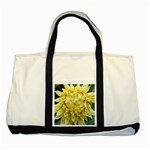 Yellow Dahlia Tote with Black Accents - Two Tone Tote Bag