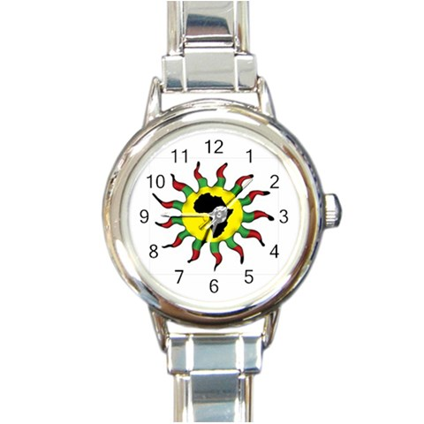 Connecting To Africa 4th Kids/womens Option Strap By Chantel Reid Demeter   Round Italian Charm Watch   Vnsdc3kmhppo   Www Artscow Com Front