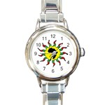 Connecting to Africa 4th Kids/Womens Option Strap - Round Italian Charm Watch
