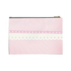 Pink Flower 2 Case  Large  Template By Jennyl   Cosmetic Bag (large)   Ugrczaokq7kl   Www Artscow Com Back