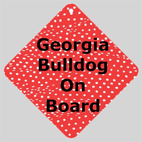 Bulldog On Board By Alison Martin   Car Window Sign   Q7ry6go6ttyc   Www Artscow Com Front