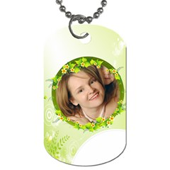 Flower Tag By Wood Johnson   Dog Tag (two Sides)   3xs69y4gor46   Www Artscow Com Front