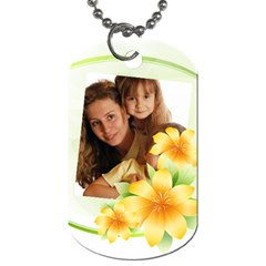 Flower Tag By Wood Johnson   Dog Tag (two Sides)   8kbku9lbrf5f   Www Artscow Com Front