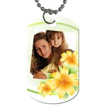Flower tag - Dog Tag (Two Sides)