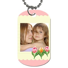 Flower Tag By Wood Johnson   Dog Tag (two Sides)   Ew1elkfc0sem   Www Artscow Com Front