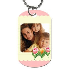 Flower Tag By Wood Johnson   Dog Tag (two Sides)   Ew1elkfc0sem   Www Artscow Com Back