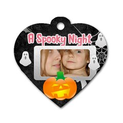 Halloween Tag By Wood Johnson   Dog Tag Heart (two Sides)   996g1hx4r6u4   Www Artscow Com Front