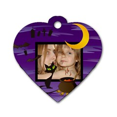 Halloween Tag By Wood Johnson   Dog Tag Heart (two Sides)   3t2zeehrdwhw   Www Artscow Com Front