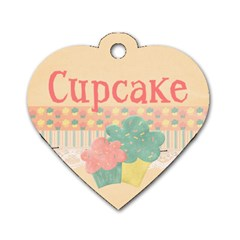 Cupcake Dog Tag By Tien Nguyen   Dog Tag Heart (two Sides)   Yo5fntjvu0bp   Www Artscow Com Front