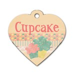 Cupcake Dog Tag - Dog Tag Heart (Two Sides)