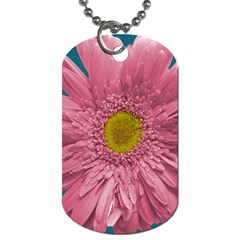 Pink Flower By Mikki   Dog Tag (two Sides)   Wgrshpvuawmx   Www Artscow Com Front