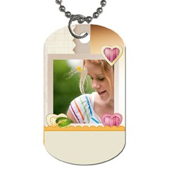Baby Flower Tag By Joely   Dog Tag (two Sides)   1ib2hcoao5yi   Www Artscow Com Back