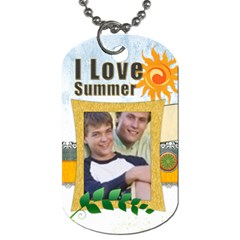 Summer  Tag By Joely   Dog Tag (two Sides)   5cht3ig0q3py   Www Artscow Com Front