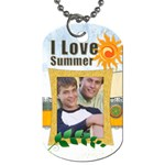 summer  tag - Dog Tag (Two Sides)