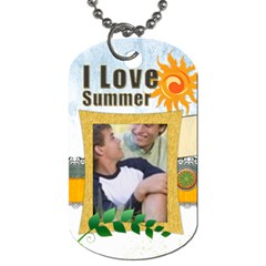 Summer  Tag By Joely   Dog Tag (two Sides)   5cht3ig0q3py   Www Artscow Com Back