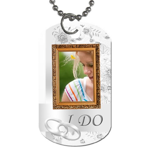 I Do  By Joely   Dog Tag (one Side)   Vcyzu16g98wx   Www Artscow Com Front