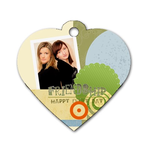Friendship Tag By Joely   Dog Tag Heart (one Side)   Sodpzd1ljmml   Www Artscow Com Front