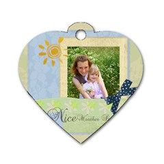Nice Weather By Joely   Dog Tag Heart (two Sides)   Lwzzfthi8y2w   Www Artscow Com Front