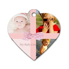 Pink Baby By Joely   Dog Tag Heart (two Sides)   Z7z9m3uxnblj   Www Artscow Com Front