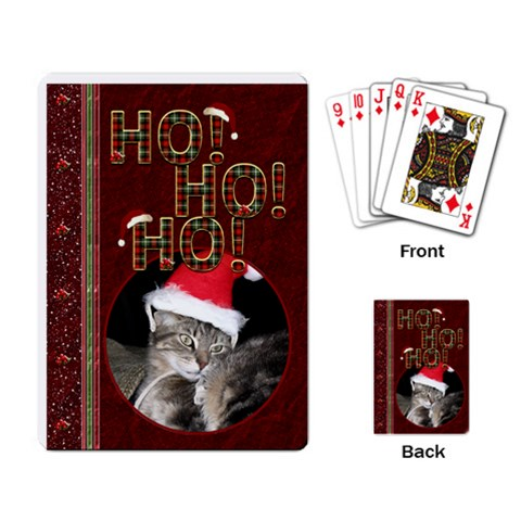 Ho Ho Ho Playing Cards By Lil    Playing Cards Single Design   Gv5301beoy1l   Www Artscow Com Back
