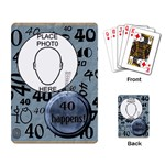 40th Birthday Playing Cards - Playing Cards Single Design