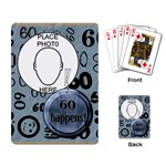60th Birthday Playing Cards - Playing Cards Single Design