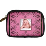 Pink Art Nuveau camera case - Digital Camera Leather Case
