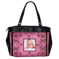 Pink Art Nuveau Oversized Office Bag By Catvinnat   Oversize Office Handbag (2 Sides)   Mpgtr8cnrsgk   Www Artscow Com Back