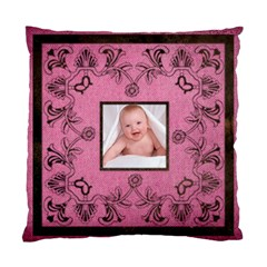 Pink Art Nuveau Cushion By Catvinnat   Standard Cushion Case (two Sides)   Xns8oj5rgyug   Www Artscow Com Back