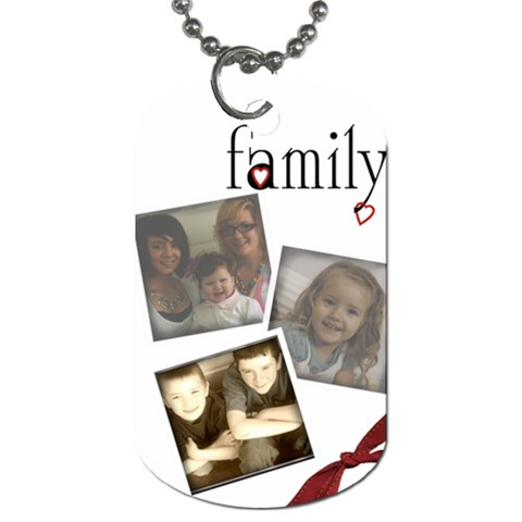 Family 3 Photo Tag By Amanda Bunn   Dog Tag (one Side)   Rabwjt5yj6wf   Www Artscow Com Front