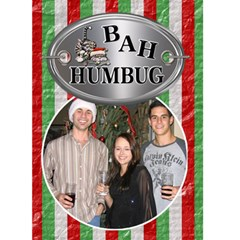 Bah Humbug Christmas Card By Lil    Greeting Card 5  X 7    A72zq2emue00   Www Artscow Com Front Cover
