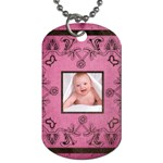 Art Nouveau Pink Dog Tag - Dog Tag (Two Sides)