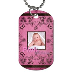 Art Nouveau Pinkalicious Dog Tag By Catvinnat   Dog Tag (two Sides)   Y3qhy5cfwz5d   Www Artscow Com Front