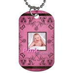 Art Nouveau Pinkalicious Dog Tag - Dog Tag (Two Sides)