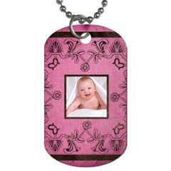 Art Nouveau Pinkalicious Dog Tag By Catvinnat   Dog Tag (two Sides)   Y3qhy5cfwz5d   Www Artscow Com Back
