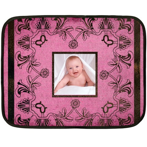 Art Nouveau Pink Mini Fleece By Catvinnat   Fleece Blanket (mini)   1soifqvqhqv2   Www Artscow Com 35 x27 Blanket