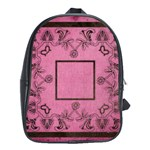 Art Nouveau Pink Back Pack School Bag - School Bag (Large)