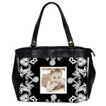 Art Nouveau Black & White \Oversized office bag - Oversize Office Handbag (2 Sides)