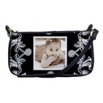 Art Nouveau Black & White clutch bag - Shoulder Clutch Bag