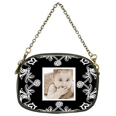 Art Nuuveau Black & White Chain Purse By Catvinnat   Chain Purse (two Sides)   Jtco1pasbpx3   Www Artscow Com Back