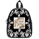 Art Nouveau Black & White mini backpack schoolbag - School Bag (Small)
