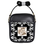 Art Nouveau Black & White Girls sling bag