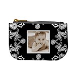 Art Nouveau Black & White Mini Coin Purse