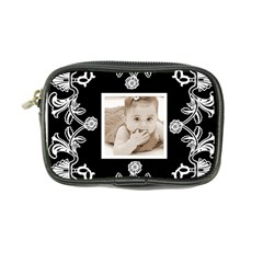 Art Nouveau Black & White Mini Purse By Catvinnat   Coin Purse   A7m931m1qxes   Www Artscow Com Front