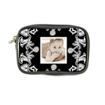 Art Nouveau Black & White Mini Purse - Coin Purse
