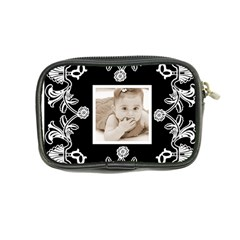 Art Nouveau Black & White Mini Purse By Catvinnat   Coin Purse   A7m931m1qxes   Www Artscow Com Back