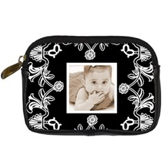 Art Nouveau Black & White Digitalcamera Case By Catvinnat   Digital Camera Leather Case   Eq2ewm9954z2   Www Artscow Com Front