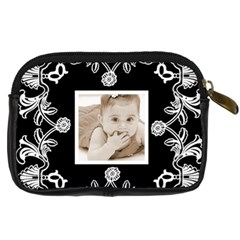 Art Nouveau Black & White Digitalcamera Case By Catvinnat   Digital Camera Leather Case   Eq2ewm9954z2   Www Artscow Com Back