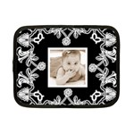 Art Nouveau Black & White Small Netbook Case - Netbook Case (Small)